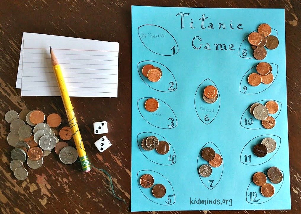 Titanic Math Game for ages 4-12. Save the treasure before the Titanic sinks!