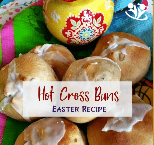 """Hot Cross Buns are easy and fun. I love that making buns together offers a bonding opportunity. We parents spend the majority of our time taking care of business, so it's nice once in a while to push """"pause"""" and just be with kids in a moment. #hotcrossbuns #kidscook"""