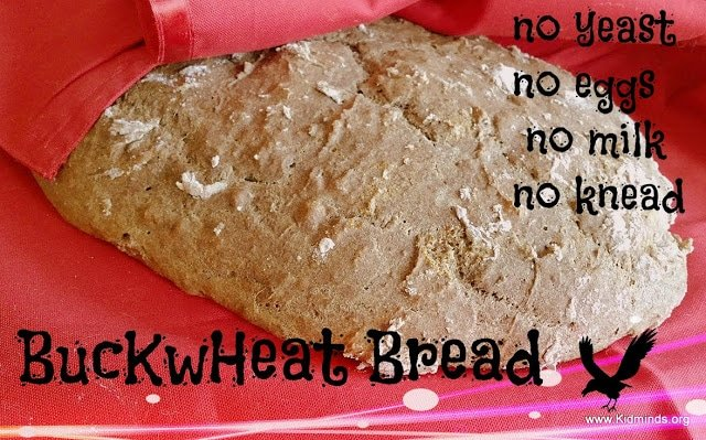 Buckwheat Bread - no yeast, no milk, no eggs, no knead recipe