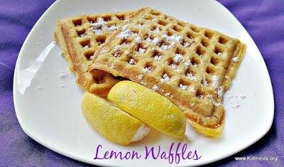 Lemon Flax Seed Waffles