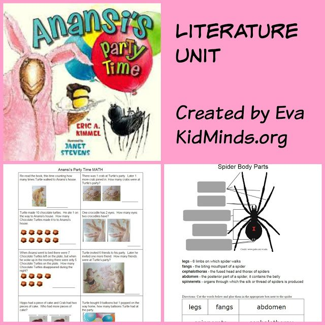 Anansi's Party Time - Literature Unit