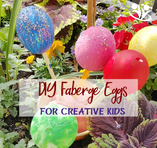 Are you looking for a fun and unique Easter egg project? Try DIY Faberge Eggs. #creativekids #easter #handsonlearning #kidminds #FabergeEggss