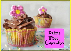 Dairy Free Cupcakes with Chocolate Frosting