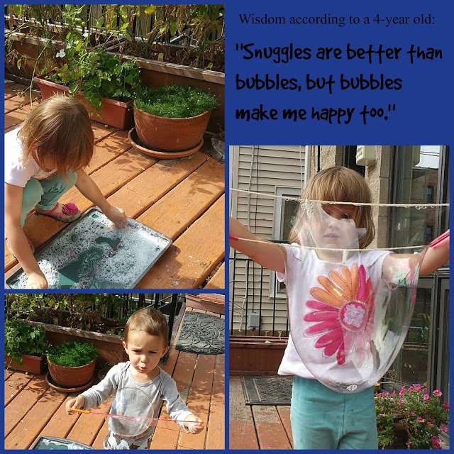 Do you want to try making giant bubbles with your kids? It's a perfect summertime activity to do with your kids to make memories that will last a lifetime! #familyfun