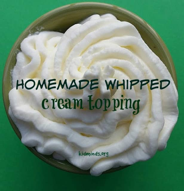Homemade Whipped Cream Topping
