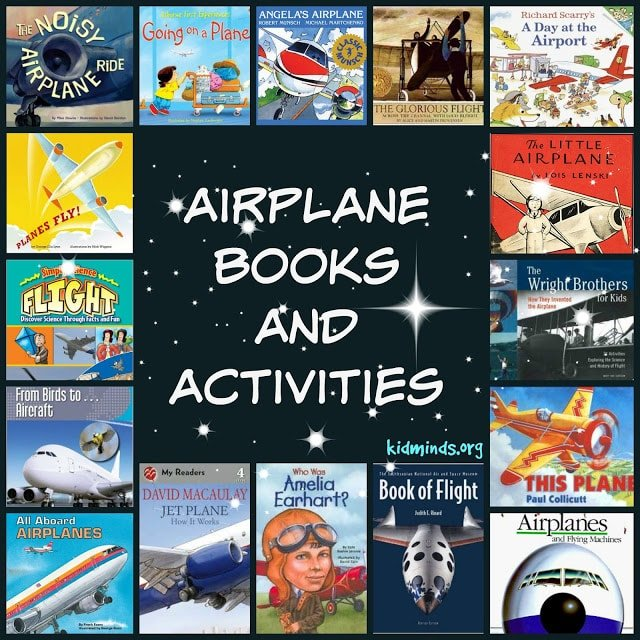 Airplane books and activities.  The 50 books on this list are about airplanes, flight and flying.  Here you will find books that are educational (Jet Plane: how it works), entertaining (A Glorious Flight), inspiring (Who is Amelia Earhart), and encouraging hands on exploration (Wright Brothers for kids).  For ease of navigation I divided the following list of 50 books into four sections: Our Favorites (mixed ages), For the little ones (0-3), As they grow (4-8) and For Very Serious Explorers (7 and up).