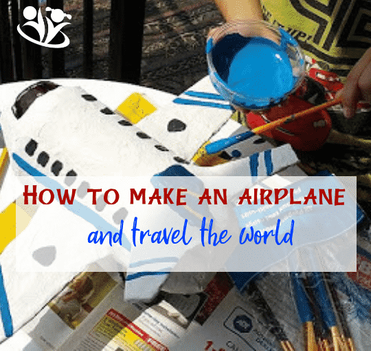 How to make an airplane from a soda bottle and newspaper. #craftsforkids #airplanes