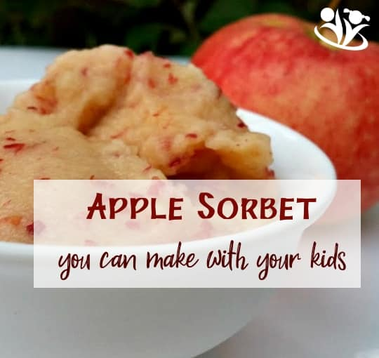 #APPLE Sorbet you can make with #Kids. Healthy dessert for any time of the year.