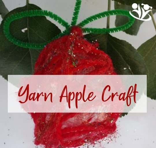 Yarn Apples Craft
