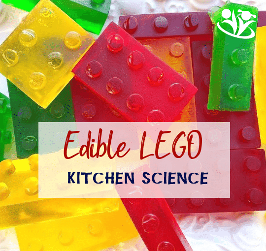 Make edible LEGO bricks with your kids if you want to win the Best Mommy Ever award! Frugal, simple, fun LEGO science in your kitchen.#LEGO