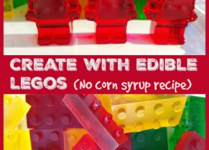 Create with Edible LEGOs (no corn syrup recipe)