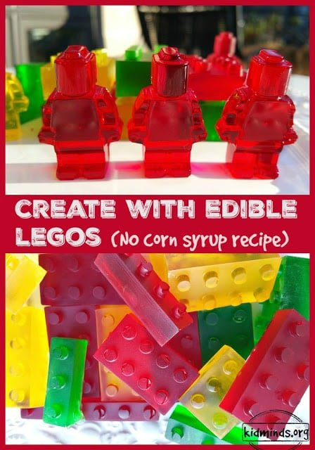 Edible LEGOs: I highly recommend this for your next project with kids. It's pretty quick, not too messy and it's good for hours of Lego Fun. The more we do it, the more steps kids can do on their own without my prompts. It's a great learning experience! #LEGO