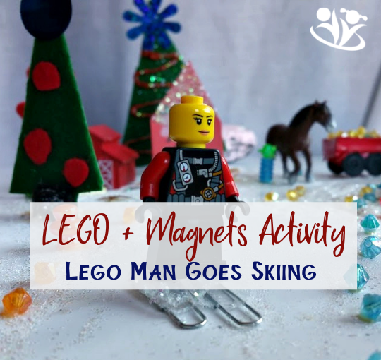 LEGO MAN GOES SKIING - Fun with Magnets