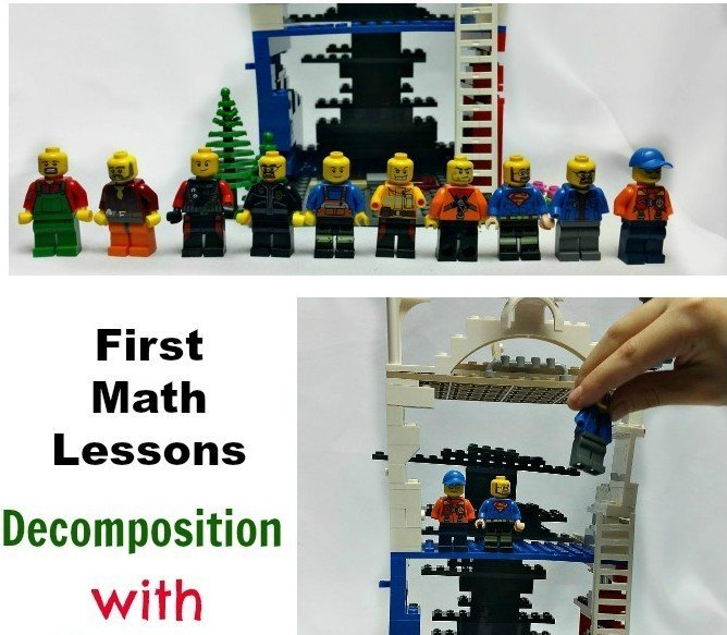 In this lesson children will practice decomposition with LEGO men. In the earlier lesson we practiced decomposing number 5, today we are moving up to 10.