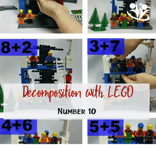 Do you want to practice decomposing number 10 with the LEGO characters? Decomposition is a skill that requires practice. #math #LEGO