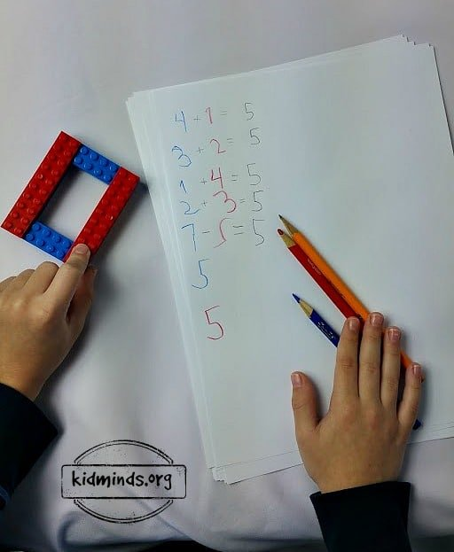 Decomposition with LEGOs - writing practice