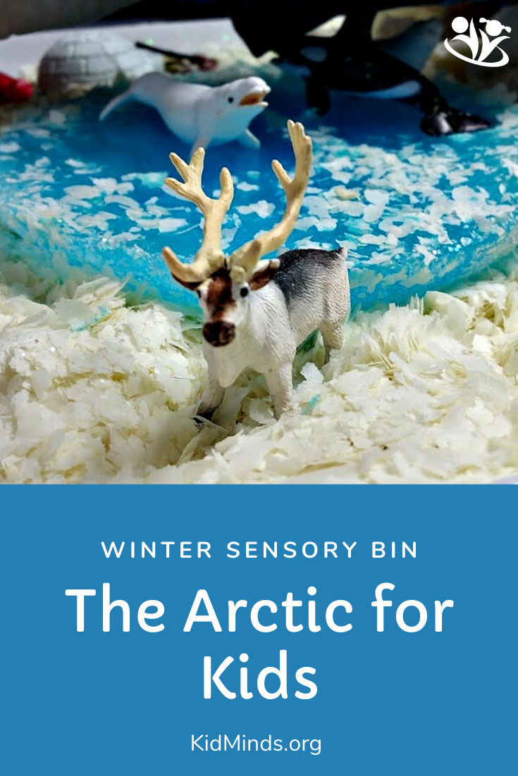 This easy sensory bin is a marvelous tool for keeping little kids engaged and happy when you need a few minutes to yourself. The best part is that you can easily adapt to what you have handy, so the play never gets old. #kidsactivities #winteractivities #laughingkidslearn #formoms #kidminds #sensorybin #handsonlearning