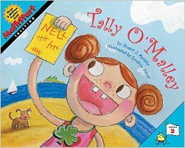 Counting Books and activities.  Tally O'Malley by Stuart J. Murphy. I came across this book in our library by accident when I was looking for books to practice counting by 5s.