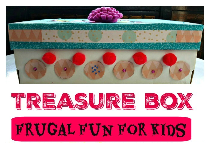 Turn shoe box into a treasure chest with a few supplies around the house. Glue, glitter, construction paper and maybe some magazine clippings.... stir imagination and encourage creativity.  #treasurechest #kidcrafts