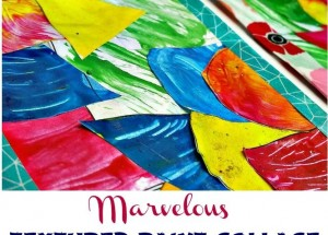 Marvelous Textured Paint Collage: Shapes, Colors, and Fine Motor Practice