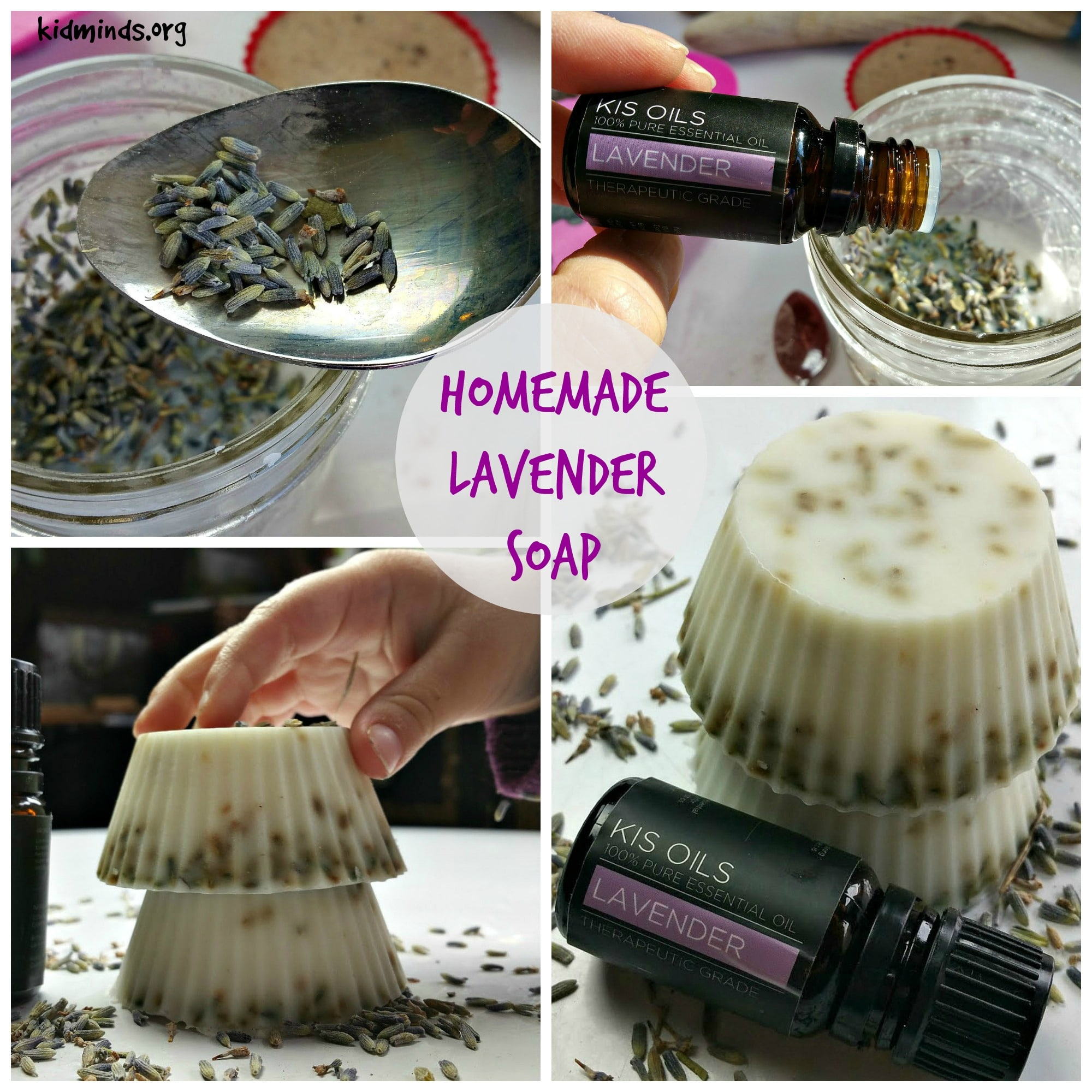Homemade soap the easy way: Lavender Soap