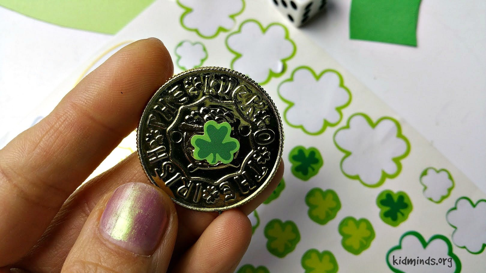 Irish Luck St. Patrick's Day Counting Game to practice numbers and counting #math #homeschool