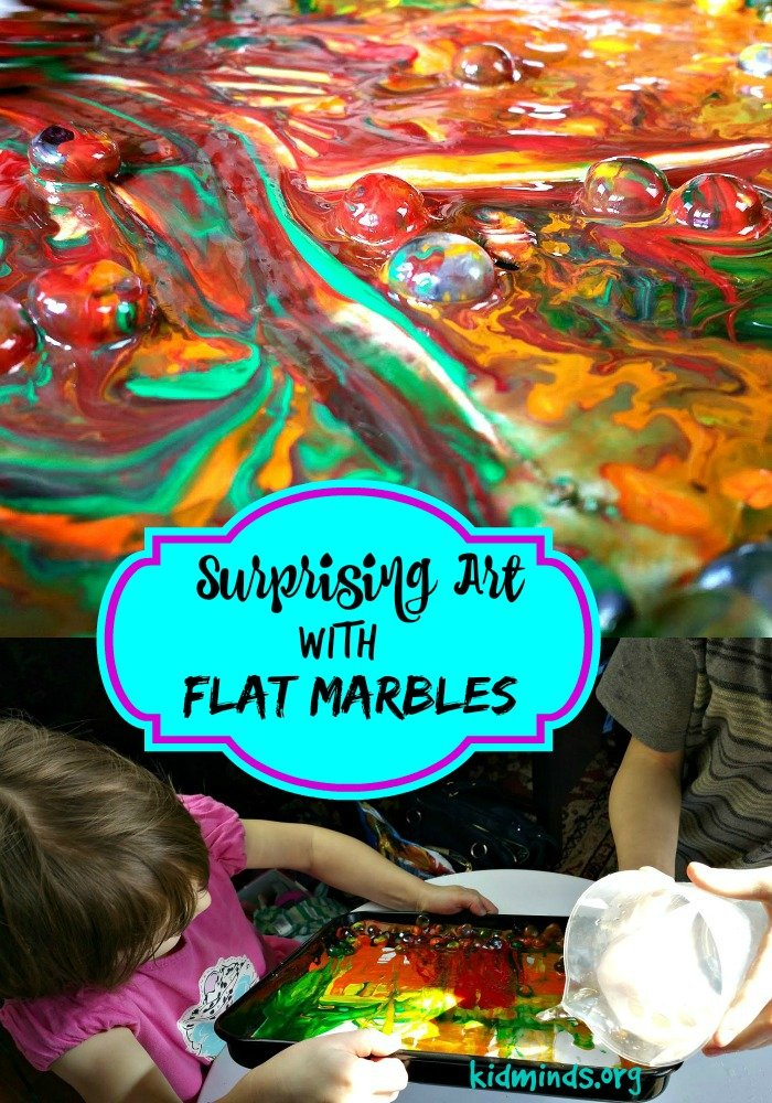 Ten Uses for Dollar Store Flat Marbles - Surprising Art with Flat Marbles, paint and water