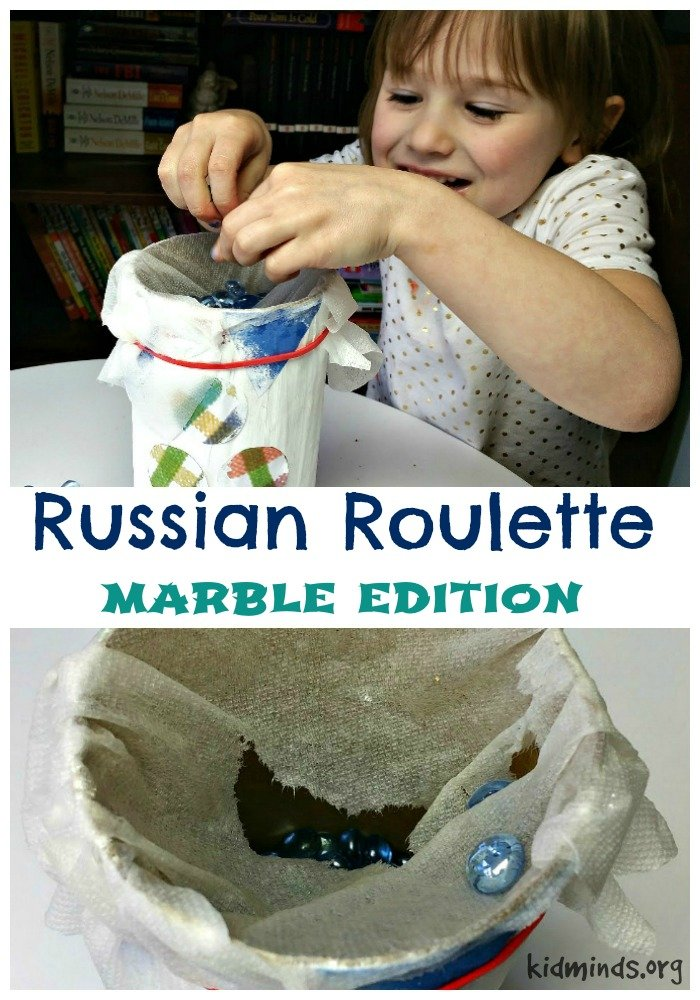 Ten Uses for Dollar Store Flat Marbles - Russian Roulette Marble Edition