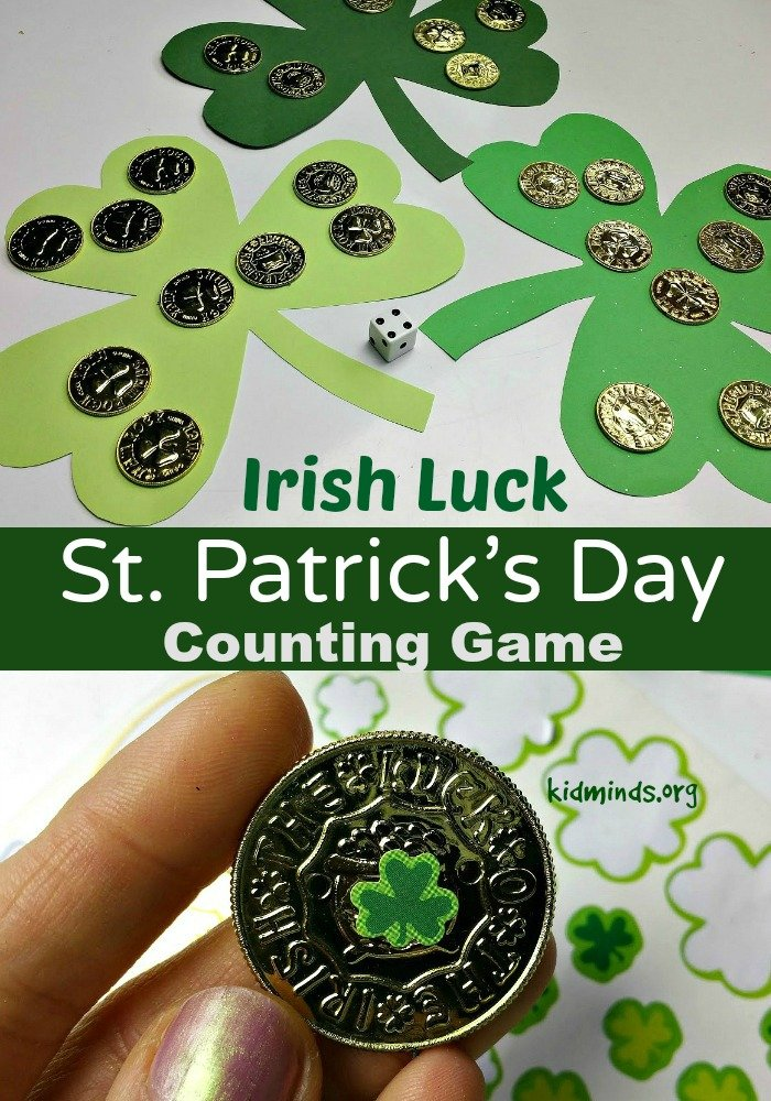 Practice Numbers and Counting with this simple St. Patrick's Day Counting Game we call Irish Luck
