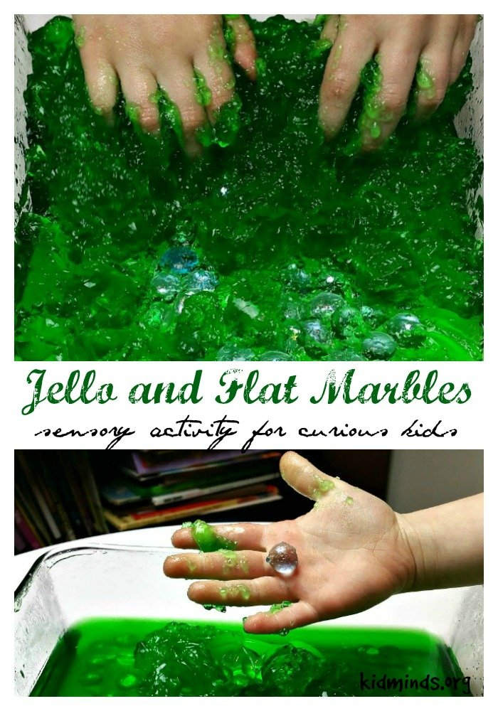 Ten Uses for Dollar Store Flat Marbles - Jello and Flat Marbles excavation site