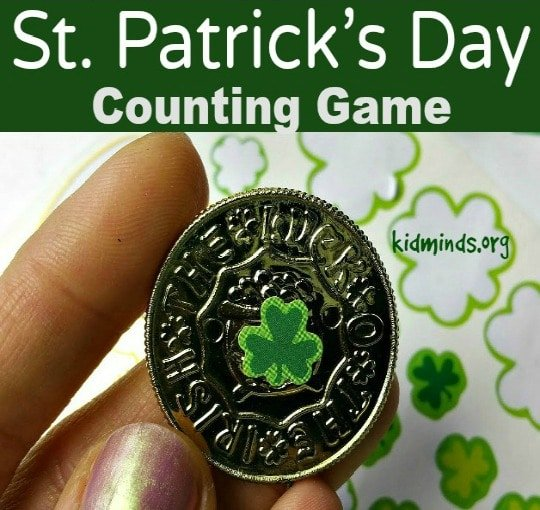 St. Patrick's Day Counting Game for Kids. #math #creativelearning