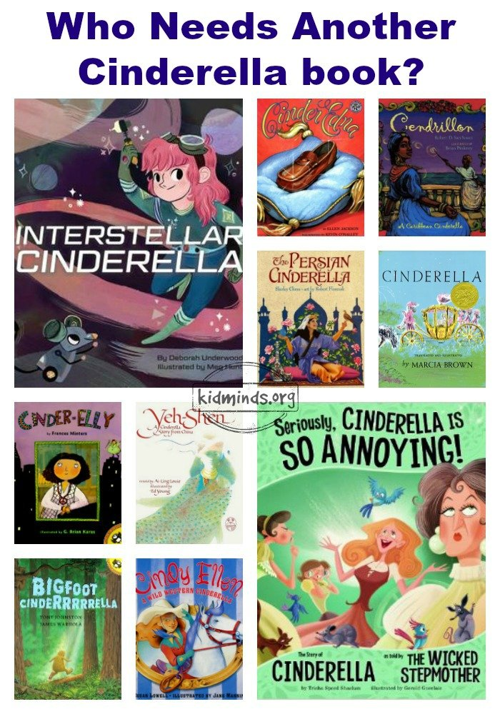 Who needs another Cinderella book?  From big foot Cinderella to rodeo champion, from glass slipper to bark clogs... the colorful variety of Cinderella books is heart-warming and entertaining
