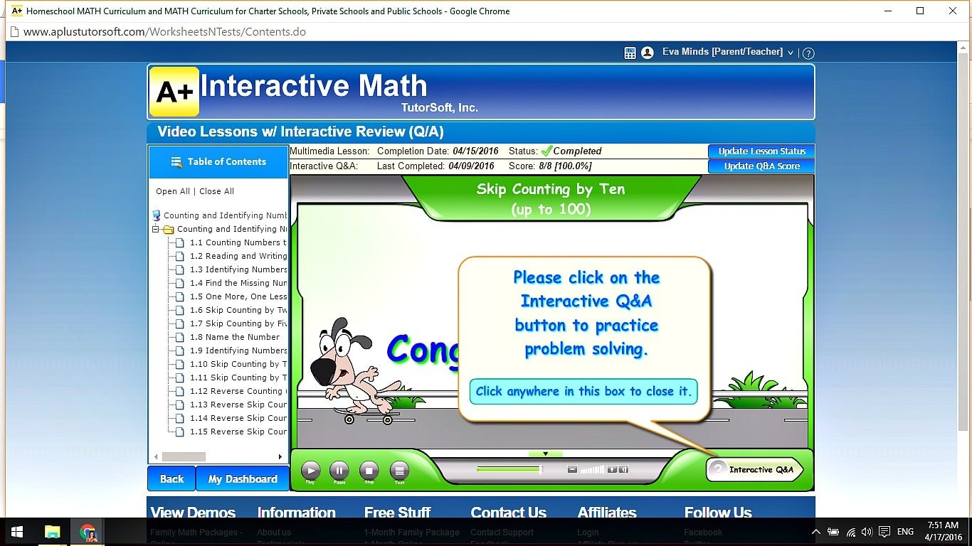 A + Interactive Math // Homeschool Math Online // mini-courses, worksheets, video lessons, tests