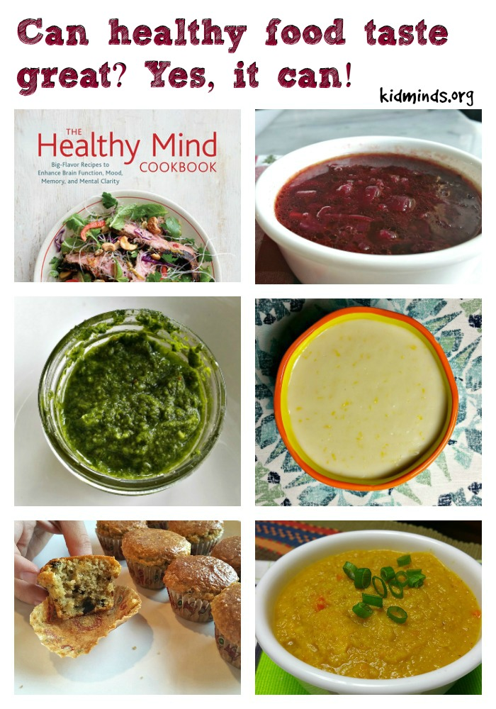 The Healthy Mind Cookbook big-flavor recipes to enhance brain function, mood, memory, and mental clarity by Rebecca Katz with Mat Edelson