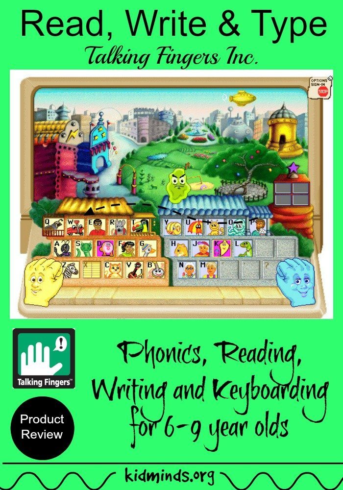 Read, Write & Type by Talking Fingers.  Online phonics, spelling and keyboarding program for 6-9 year olds.