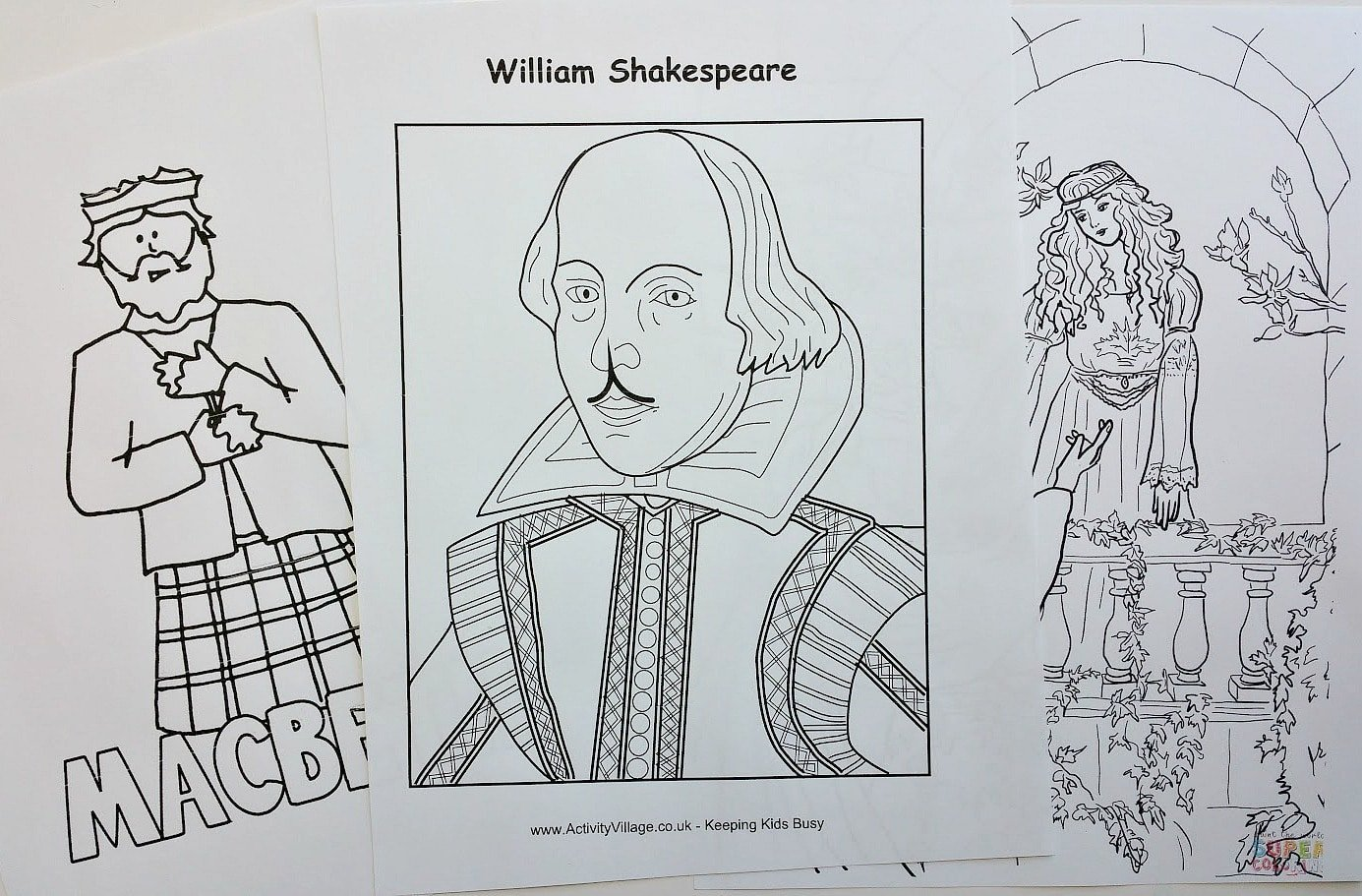 coloring pages shakespeare - photo#17