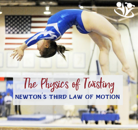 The Physics of twisting is about Newton's third law of motion, Olympics, and gymnastics. #kidsactivities #kidscience #STEM #Olympics