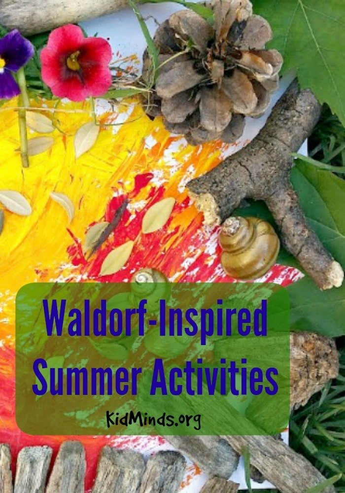 Waldorf-inspired summer activities for kids.  Nature walks, Gardening, Rock/Stick collection, Outdoor Arts and Crafts, and Looking for Fairy Hiding Places.