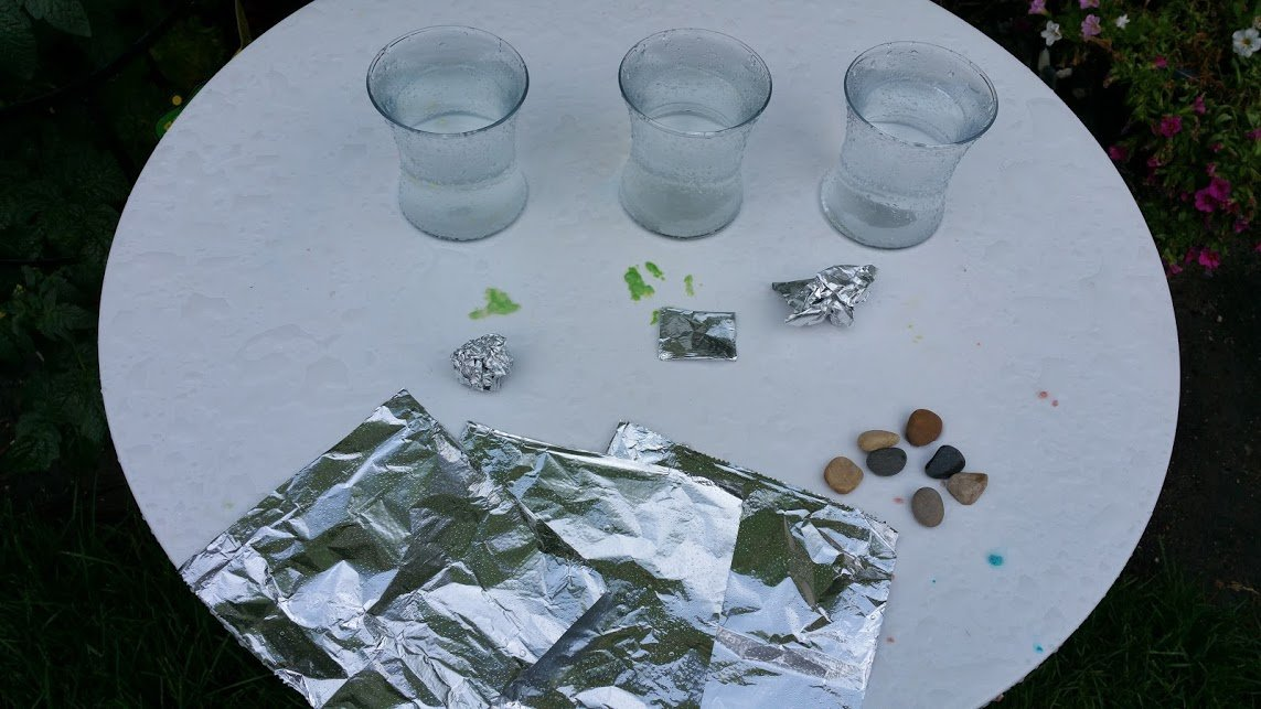 Water Resistance Experiments for Kids (Olympic Swimmers).  We investigate how water resistance slows larger objects moving through the water.  We varied (1) the shape of playdough and (2) stones wrapped in aluminum foil to make it fall faster or slower through the water.