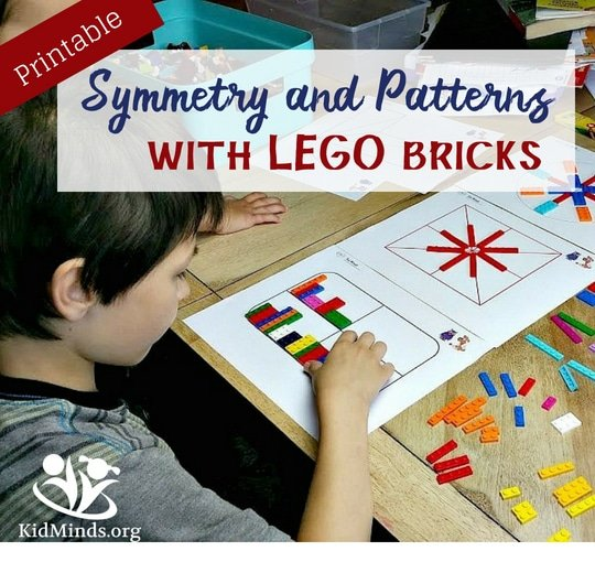 Symmetry and Patterns with LEGO bricks (with Free Printables)