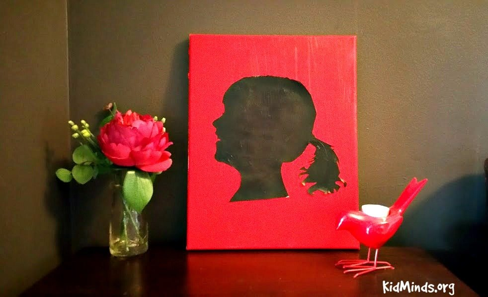 Acrylic Silhouette even small kids can do 7