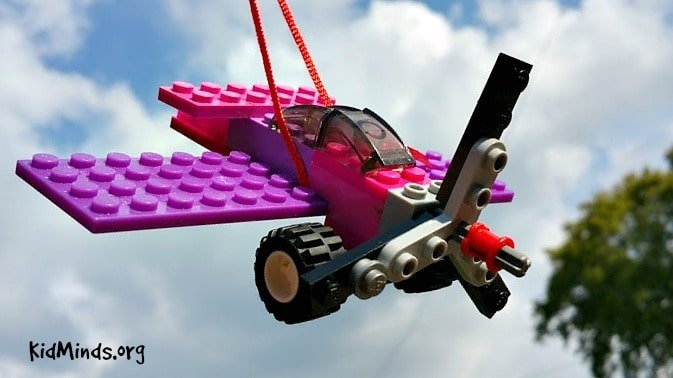 How to make a LEGO airplane fly through the air almost