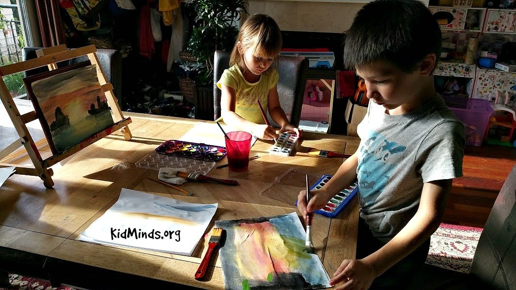 Science of Sunsets Painting Watercolor Sunsets with Kids 10