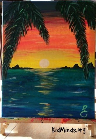 Science of Sunsets Painting Watercolor Sunsets with Kids 11
