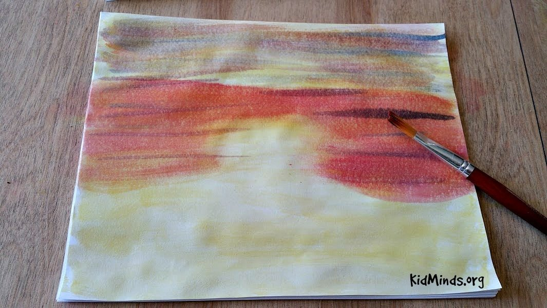 Science of Sunsets Painting Watercolor Sunsets with Kids 5
