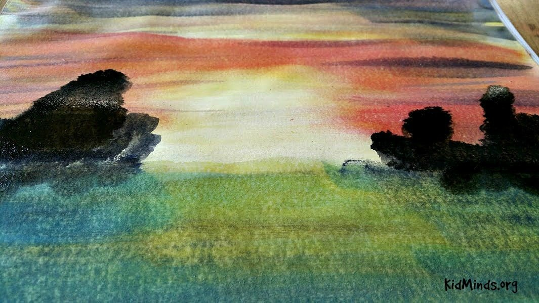 Science of Sunsets Painting Watercolor Sunsets with Kids 9