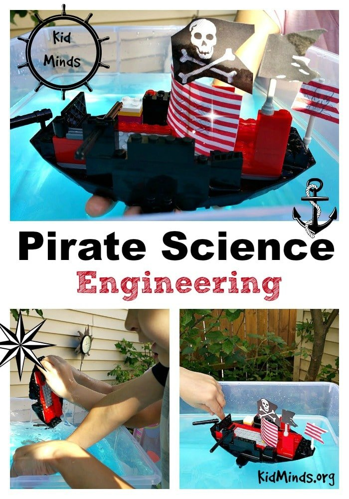 Pirates are fun and exciting!  My kids enjoyed exploring a wide range of science topics with a pirate-theme: boat engineering, celestial navigation, cartography, and more.  If you are looking for some inspiration for Talk Like a Pirate Day or hosting a pirate-themed unit, check it out!  #pirates #talklikeapirate #science #kids