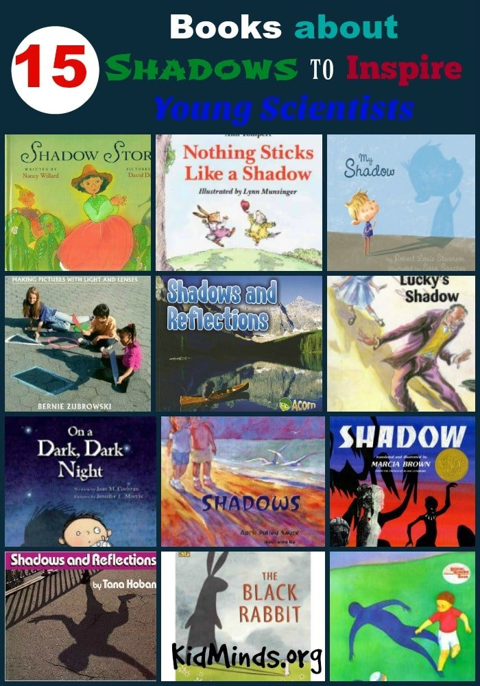 With these 15 books about Shadows you can launch a fun, investigative, inquiry based unit study into shadows that your kids will love!  #unitstudy #kidlit #scienceforlittlekids