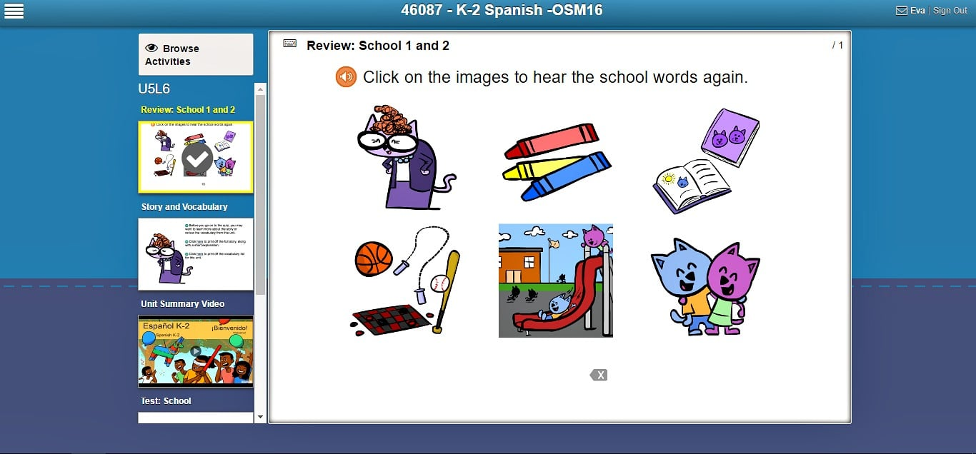 Our first adventure into the world of online Spanish learning was entertaining and educational.  So, if you are looking for a self-paced, online foreign language program for kids, I recommend this program.  Middlebury Interactive Languages makes learning at home fun and easy.