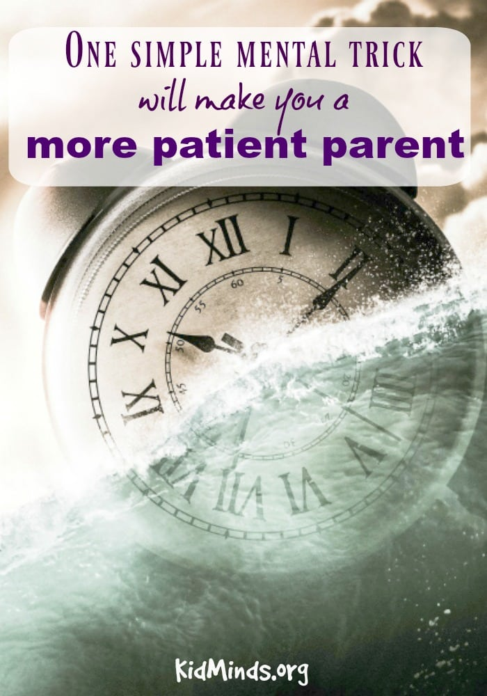 Parenting requires patience. Here is one simple mental trick that will make you a more patient parent. #mind #parenting #patience #family